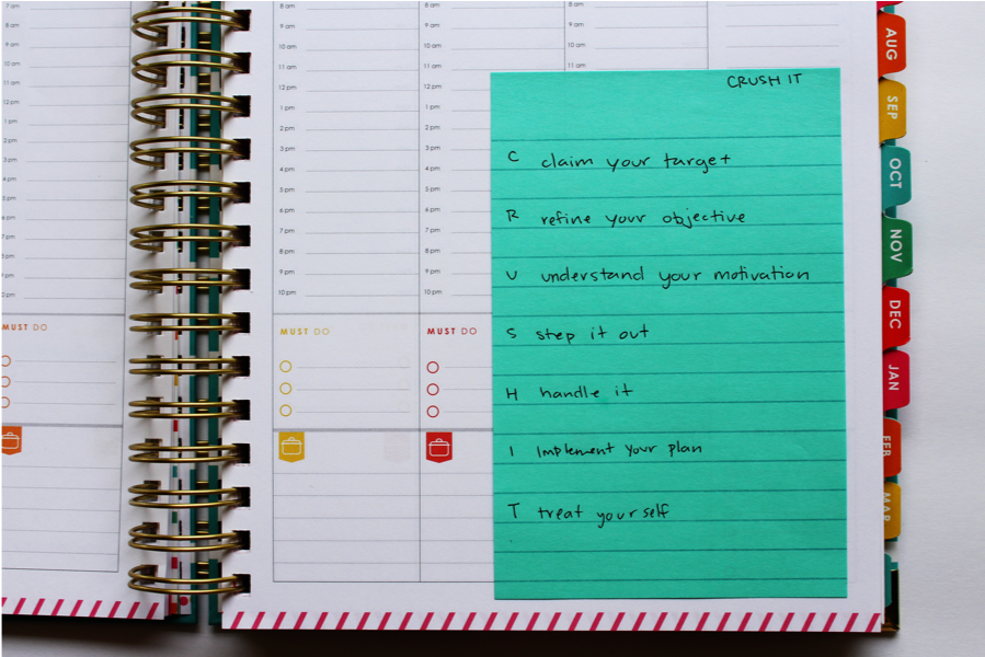 Blog Goal Crushing Using The CRUSH IT System & The Living Well Planner